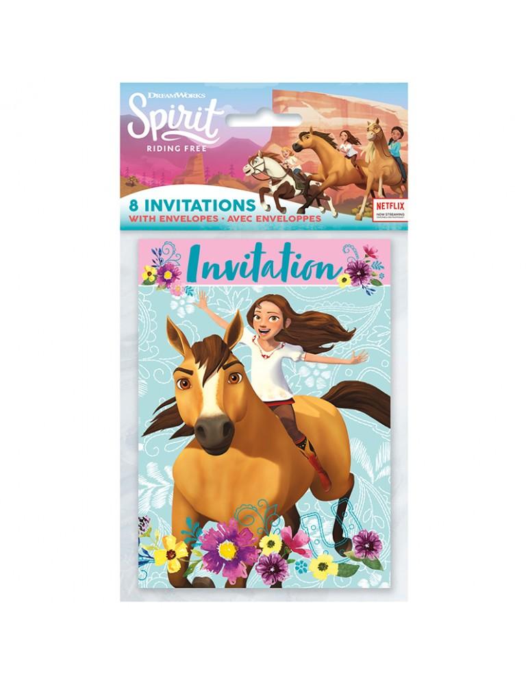 invitation cheval spirit 8