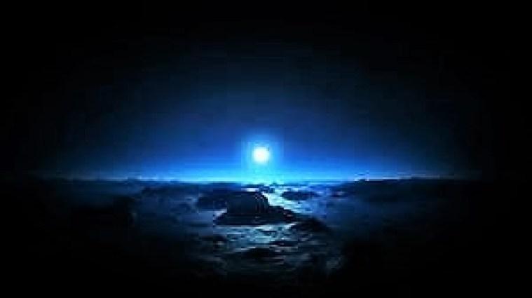 moon over ocean (2)