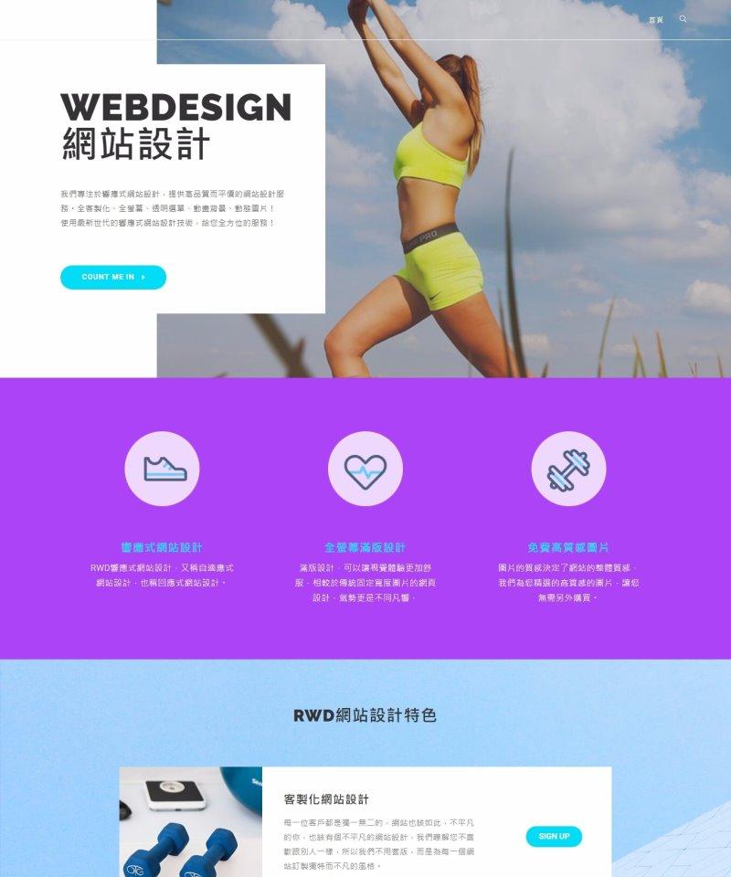 網頁設計-風格06
