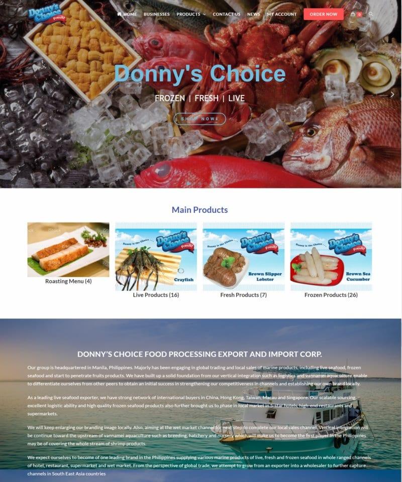 網頁設計-生鮮食品