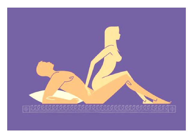 Reverse cowgirl position