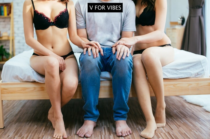 threesome, Eiffel Tower sex position, sex toys, v for vibes