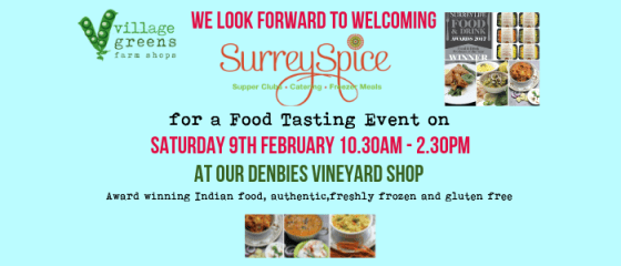 Surrey Spice Meet the Producer Event at our Denbies Shop