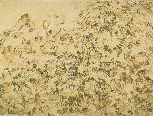 Vincent van Gogh, Wild vegetation, drawing