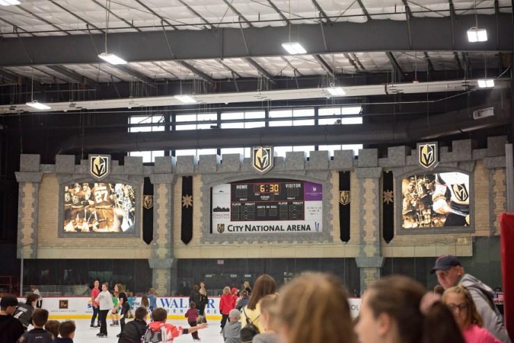 Vegas Golden Knights Practice Arena Score Board