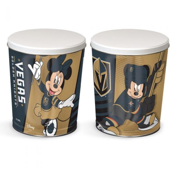 Vegas Golden Knights Disney Tins featuring Mickey and Minnie