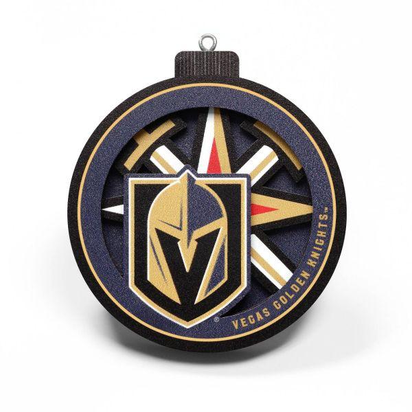 Vegas Golden Knights 3D Logo Ornament
