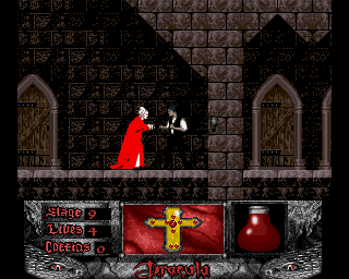 Bram Stoker's Dracula was a critically and commercially successful film by Francis Ford Coppola starring Gary Oldman, Keanu Reeves, Winona Ryder and Anthony Hopkins. It was not a successful game, however, dumbly impaled on a jump-and-run mechanic lacking the playability of the likes of Konami's similarly themed Castlevania series.  Image courtesy of the Video Game Museum, click to visit www.vgmuseum.com