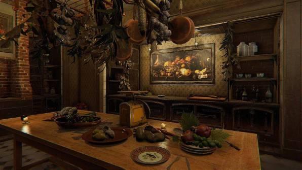 Una cucina d'ispirazione pittorica.