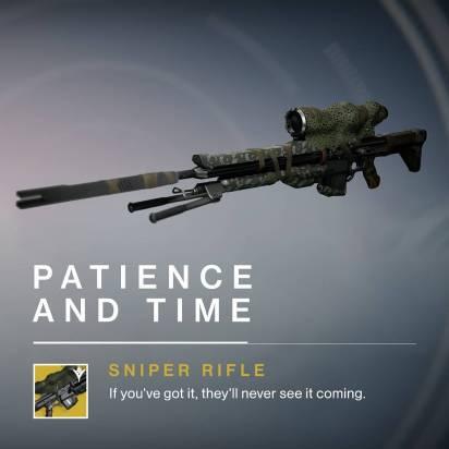 Destiny - Tempo e Pazienza