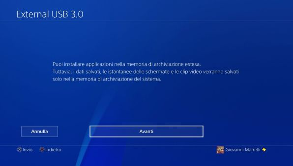 PS4: come installare un hard disk esterno