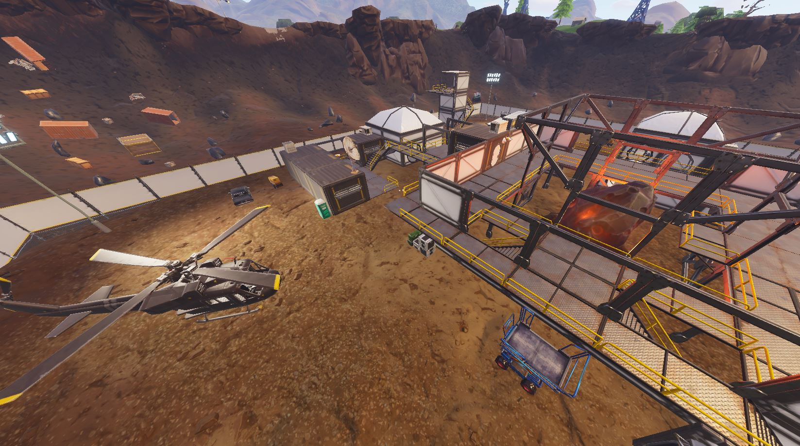 Theres Something Inside Fortnites Meteor In Dusty Divot