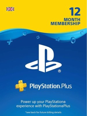 Playstation Plus 12 Months Subscription Card