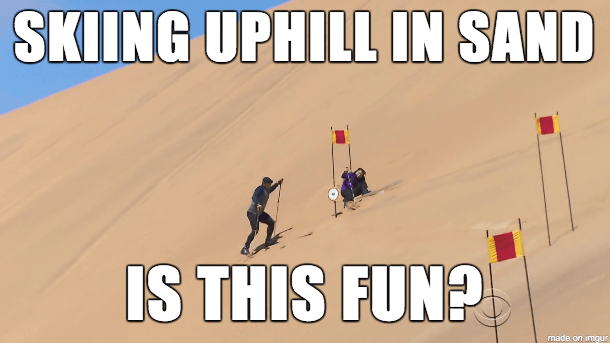 skiinguphill