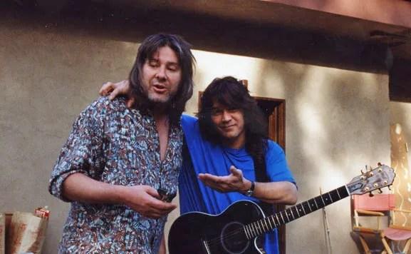 Andy Johns with Eddie Van Halen