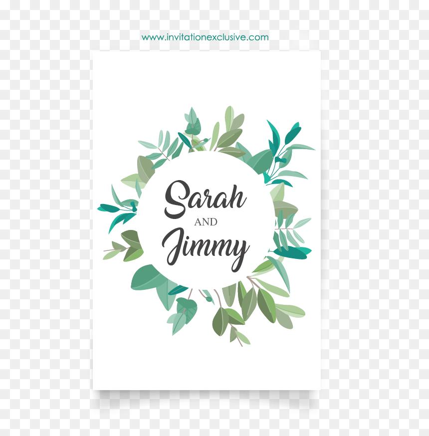 plant wedding card design circle2