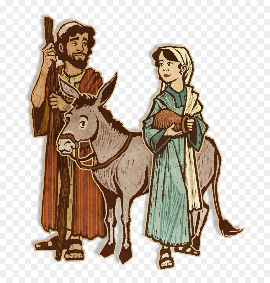 Donkey Clipart Mary Joseph Donkey Clip Art Mary And Joseph Hd Png Download Vhv