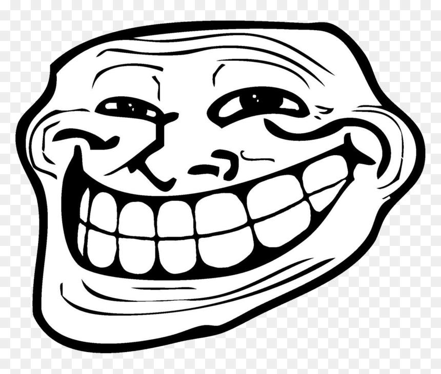 Trollface Background Transparent Troll Face Meme Png Png