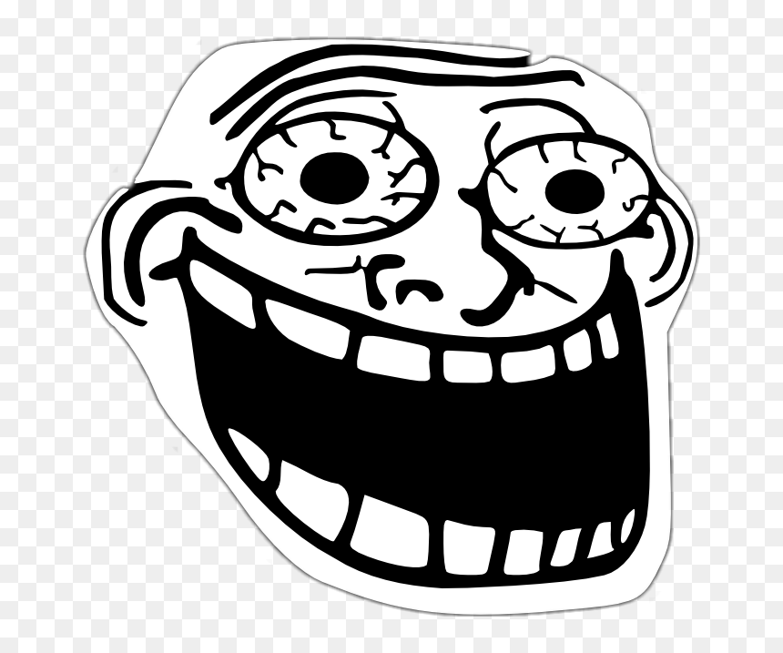 Troll Troll Face Lol Xd Excited Troll Face Hd Png Download Vhv