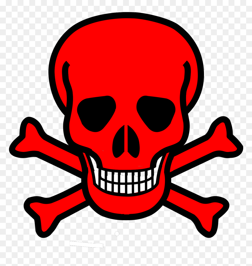 Red Skull Crossbones Punisher Clip Art Skull And Crossbones Hd Png Download Vhv
