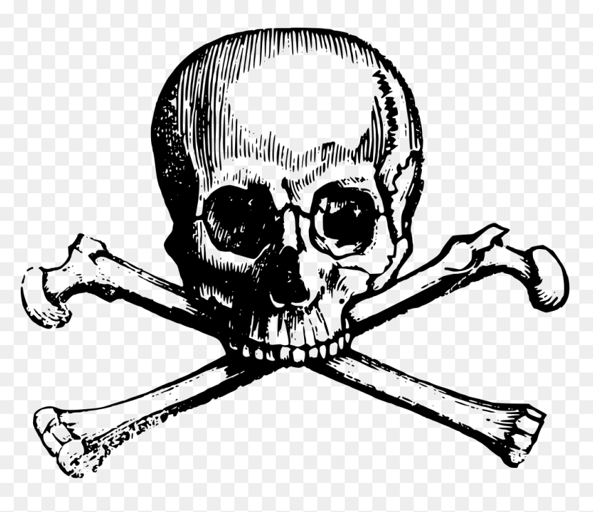 Pirate Skull And Crossbones Png Clipart Skull And Bones Transparent Png Vhv