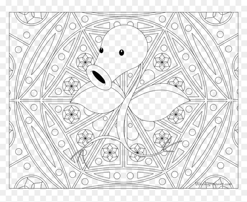 Adult Pokemon Coloring Page Bellsprout Pokemon Hard Coloring Pages Hd Png Download Vhv