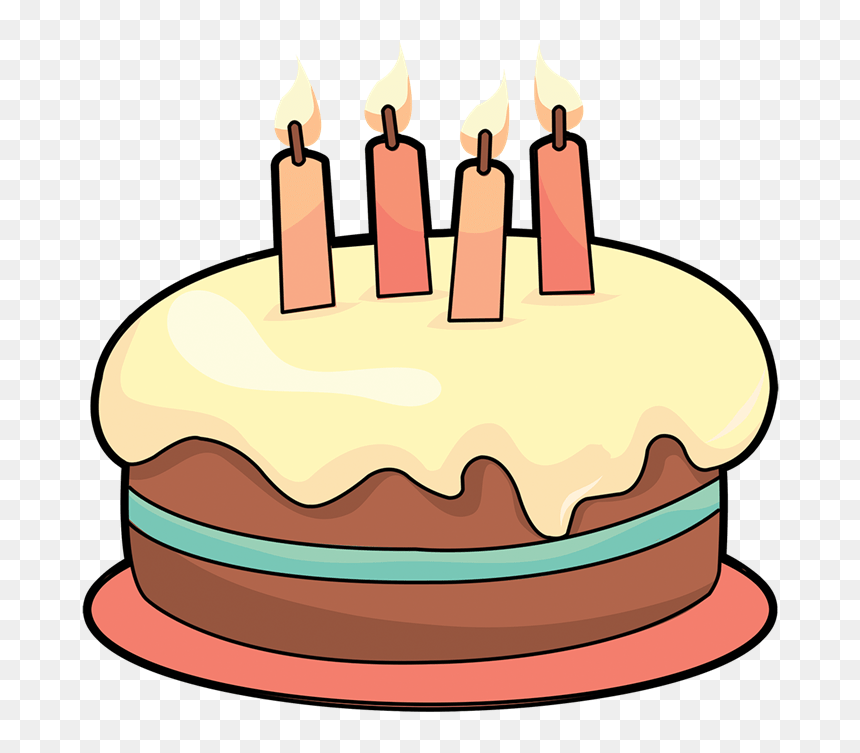 Art Cake Birthday Cake Clipart 4 Cakes Clipartix Small Birthday Cake Cartoon Hd Png Download Vhv
