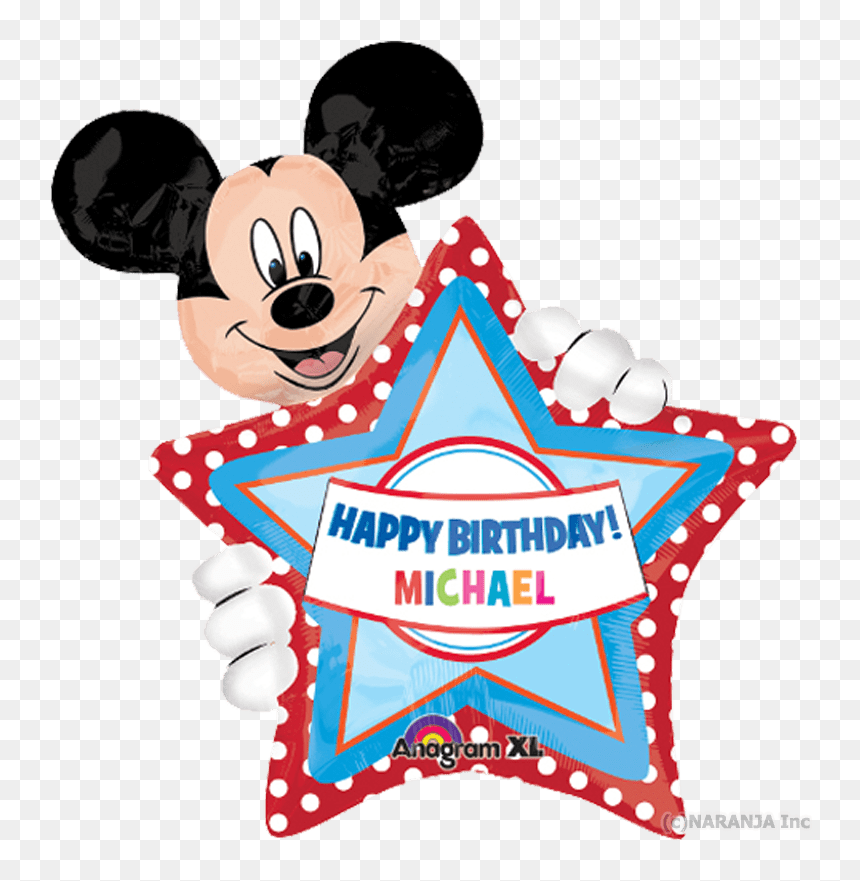 Mickey Mouse Birthday Michael Clipart Png Download Happy Birthday Michael Mickey Mouse Transparent Png Vhv