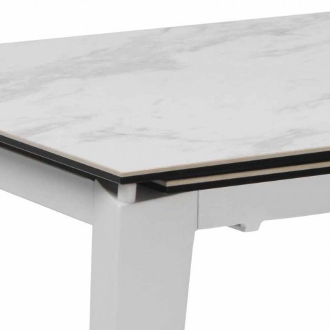 extendable dining table 120 170xp80 made of glass ceramic bino