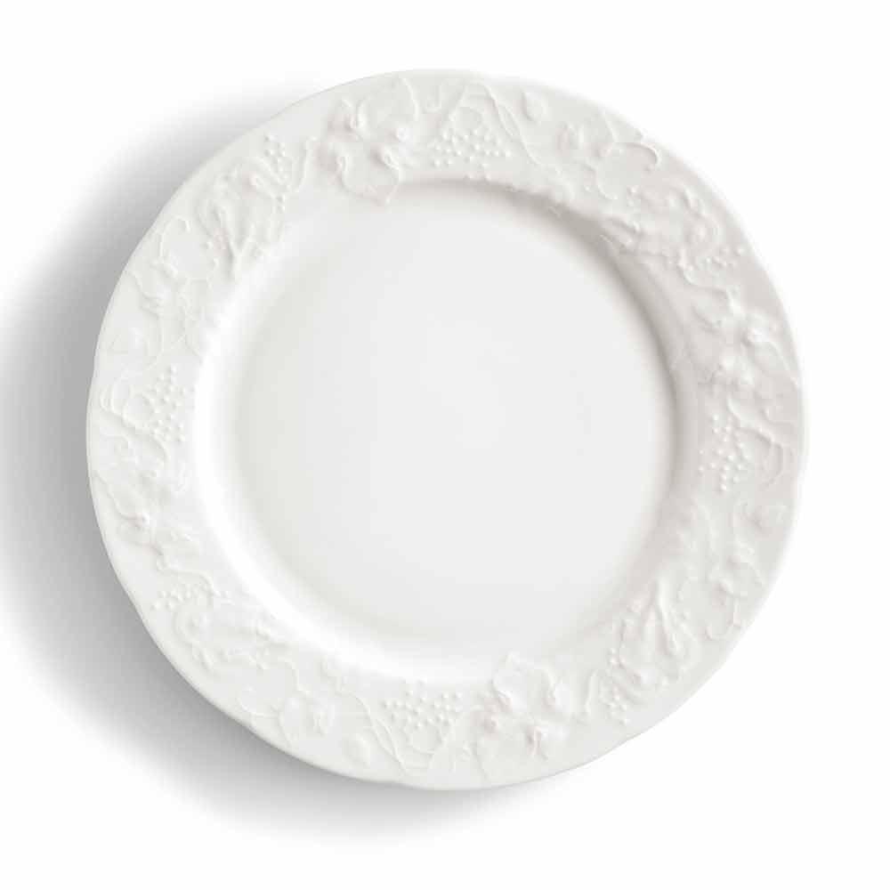 ensemble de 27 assiettes design en porcelaine blanche elegante gimignano