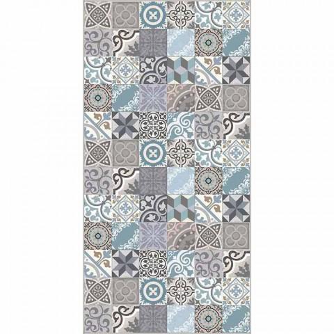 tapis de cuisine fantaisie en pvc et polyester de couleur moderne belita