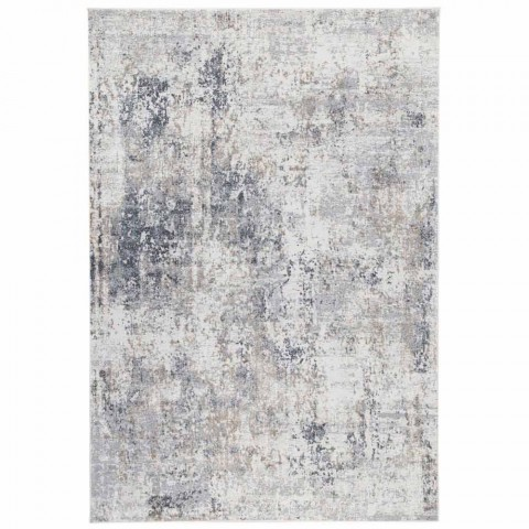 tapis design beige avec dessin en viscose et polyester occitanie