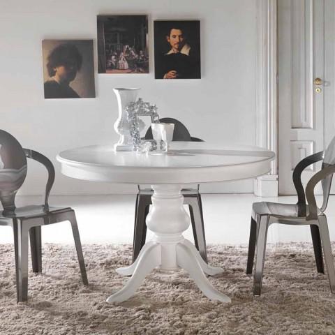 table de salle a manger ronde en bois massif oliva