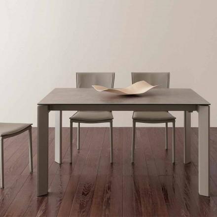 table en verre ceramique avec rallonge papillon terni jusqu a 240 cm