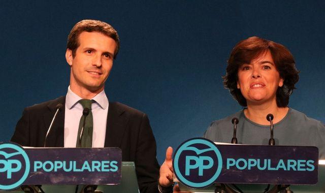 Pablo Casado i Soraya Saénz de Santamaría opten a liderar el PP