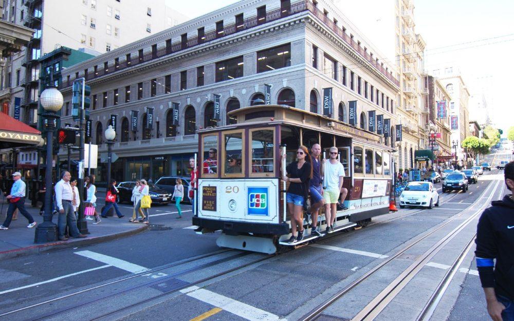 サンフランシスコ ロンバート・ストリート ケーブルカー