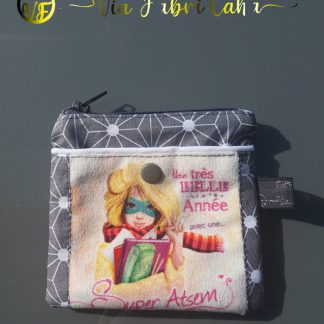 Portemonnaie Super Atsem gris