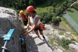 ligne de vie continue via ferrata initiation le caire provence alpes