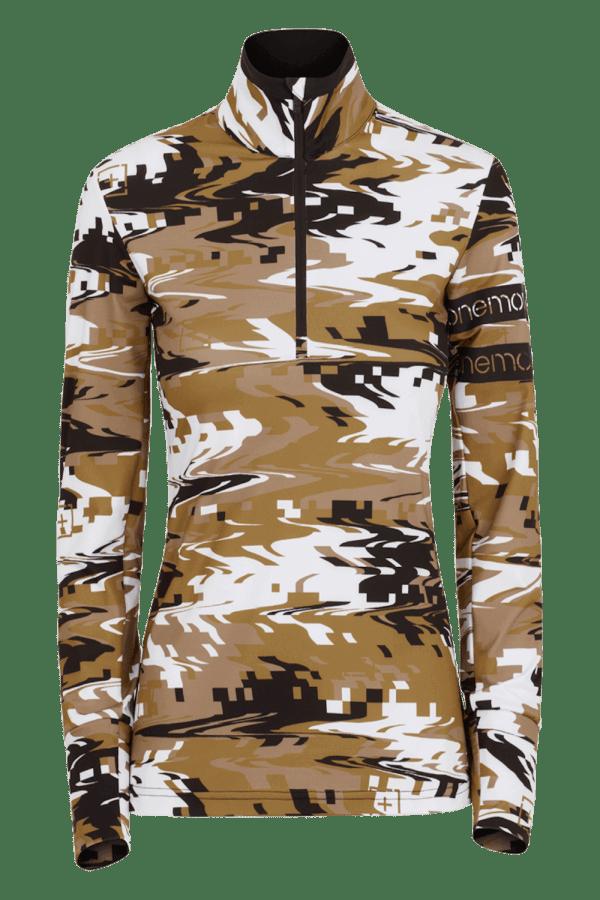 Dolcevita con mezza zip Camouflage Donna