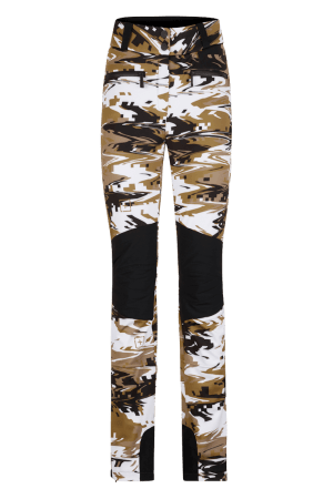 Pantaloni sci in softshell Camouflage Donna