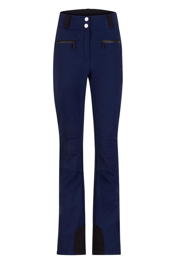 Pantaloni sci in softshell Blu Donna