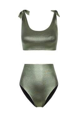 Bikini Knotting Bay High Waisted Verde