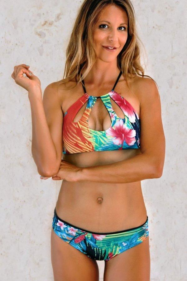 Top Bikini Filicudi Tropical Flower