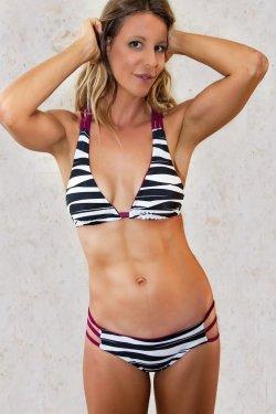 Top Bikini Stromboli Purple Zebra