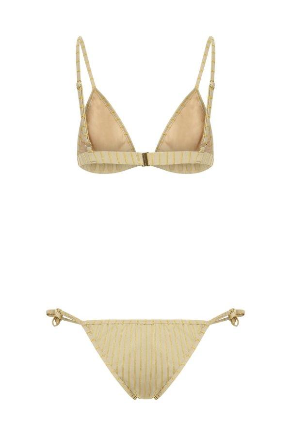Bikini Stripes&Shine Oyster