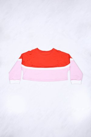 Felpa Feel Rosso/Bianco/Rosa