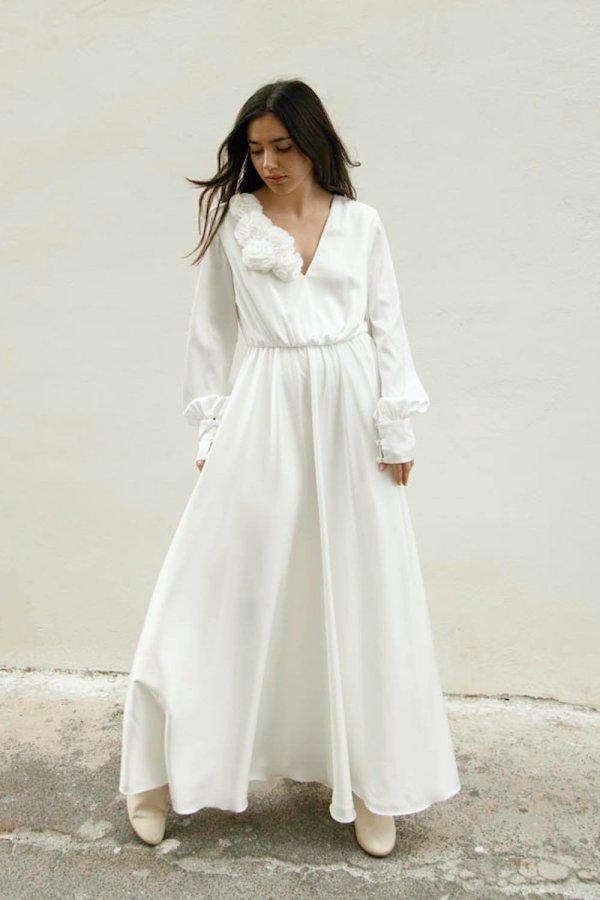Bloom Maxi Dress Bianco