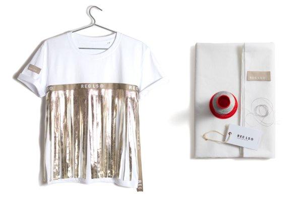 T-shirt Fringe Gold Bianca