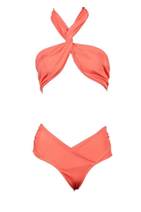 Bikini Krystal Multishape Ribbed Coral
