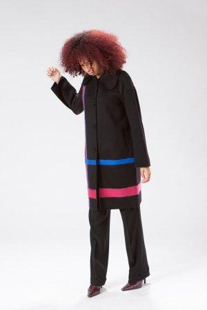 cappotto agugliato nero
